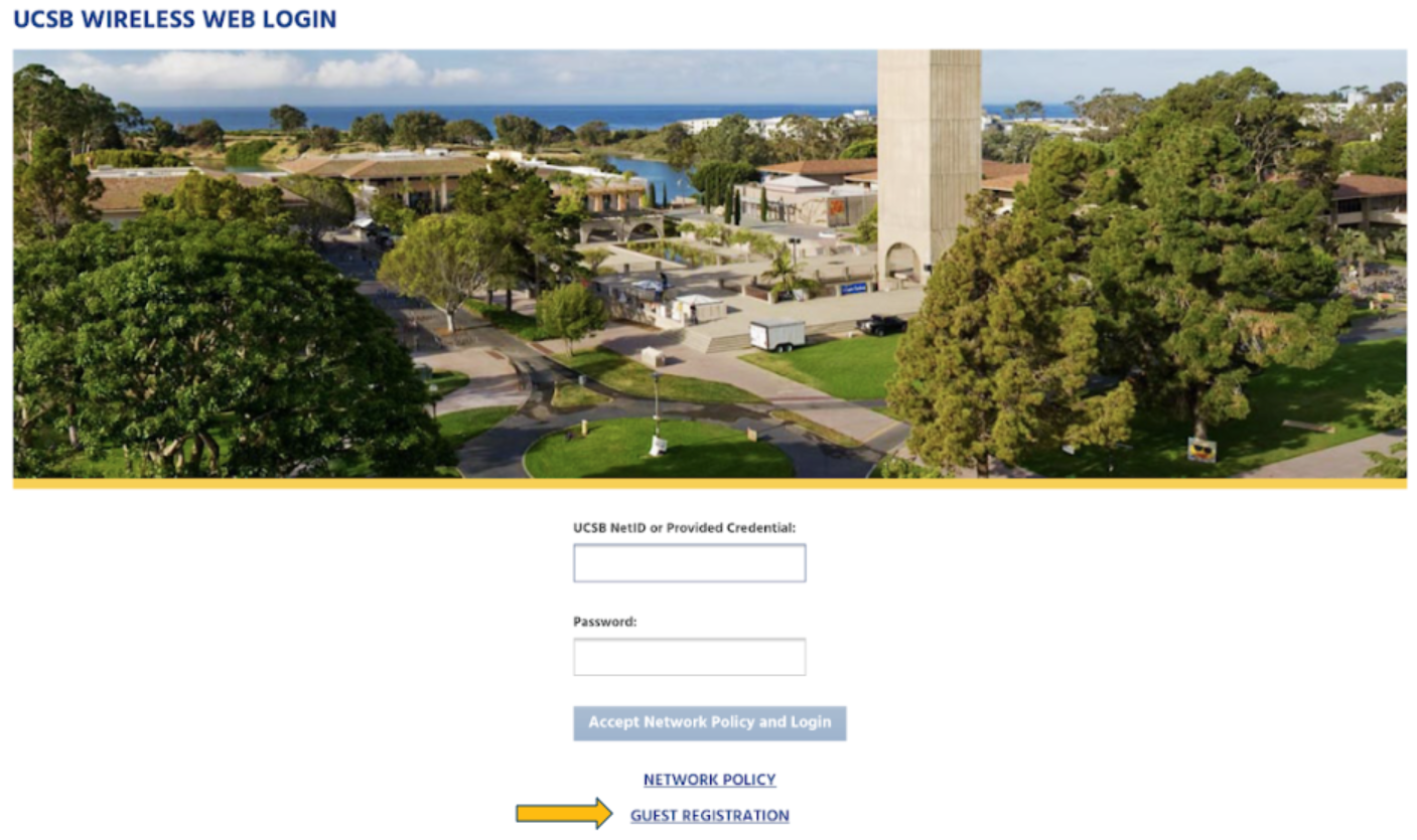UCSB Guest Wifi Access